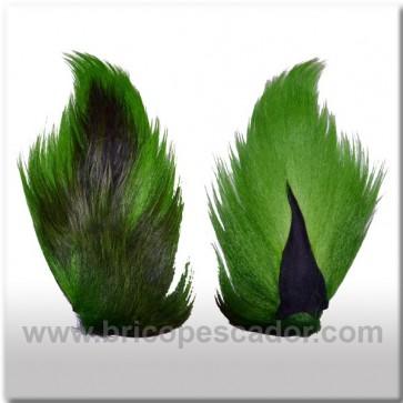 Bucktail completo teñido. Color verde.