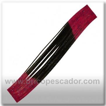Faldillín vinilo 20 fibras negro, rosa y brillo azul (5unid.)