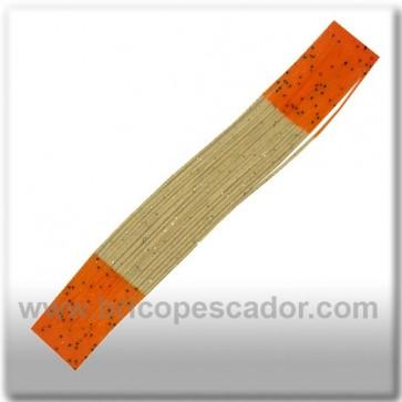 Faldillín vinilo 20 fibras blanco, naranja y brillo (5unid.)