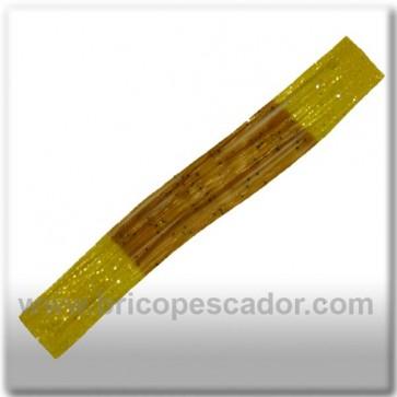 Faldillín vinilo 20 fibras marron, amarillo y brillos (5unid.)
