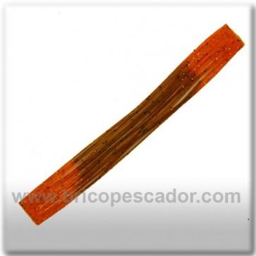 Faldillín vinilo 20 fibras marron, naranja y brillos (5unid.)