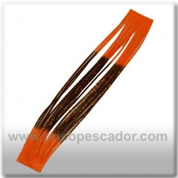Faldillín vinilo 20 fibras negro, naranja y brillo (5unid.)