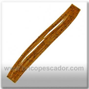 Faldillín vinilo 20 fibras marron, puntos negros y brillos (5unid.)