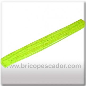Faldillín vinilo 20 fibras amarillo brillo (5 unid.)