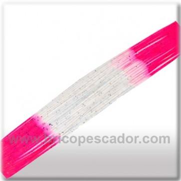 Faldillín vinilo 20 fibras rosa-blanco (5 unid.)
