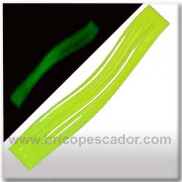 Faldillín vinilo 20 fibras amarillo fluor luminiscente (5unid.)