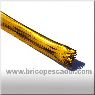 Tubo de mylar color oro. 8 mm.