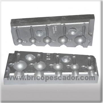 Molde de aluminio para jigs de bola de 5,5 a 25 gr.