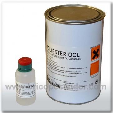 Resina transparente OCL. 1kg. incluye catalizador.