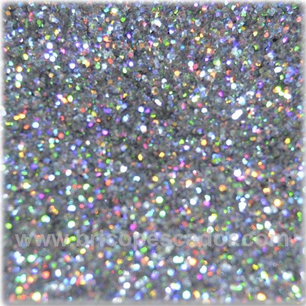Brillantina Plata Holográfico 04 Mm Termorresistente