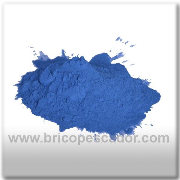 pintura en polvo termoplatificante azul Brico pesca, tu pasión