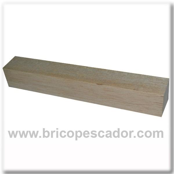 Liston de madera de balsa 30x30x200 mm brico pesca tu pasi n - Liston de madera ...