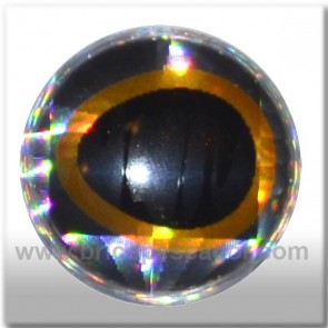 Ojos 3d asimétrico plata-oro 7 mm