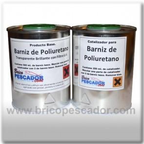 Barniz de poliuretano de 2 componentes. Transparente brillante