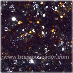 Glitter térmico Megalure negro. 1 mm