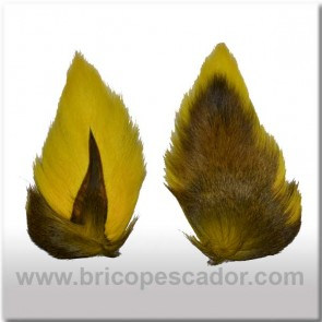 Bucktail completo teñido. Color amarillo.
