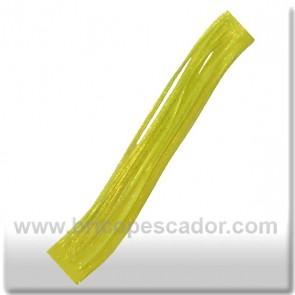 Faldillín vinilo 20 fibras amarillo y brillo dorado (5unid.)
