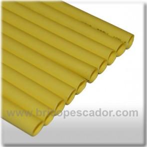Funda termorretractil 10 cm y 8 mm de diámetro . Amarillo.