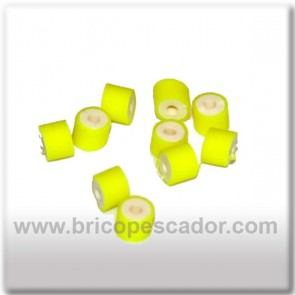 gomillas amarillo fluor para faldillin de spinnerbait o jig