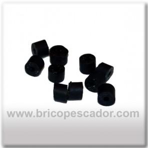 gomillas negras para faldillines de spinnerbait o jig