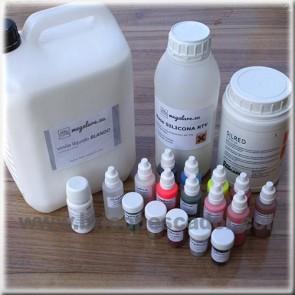 Conjunto grandes productores para la fabricación de señuelos de vinilo