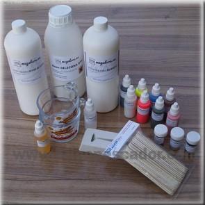 Conjunto standart para la fabricación de señuelos de vinilo