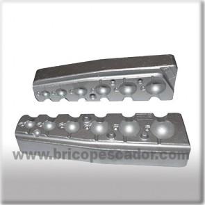 Molde de aluminio para jigs esféricos de 4 a 30 gramos