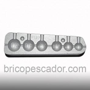 Molde de aluminio esférico tunel de 10 a 40 gramos.