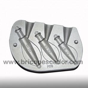 Molde aluminio para calamar. De 40 a 80 gr. grapa