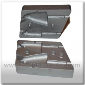 Molde de aluminio para plomo. Jig cabeza de pez 80 y 110 gr.