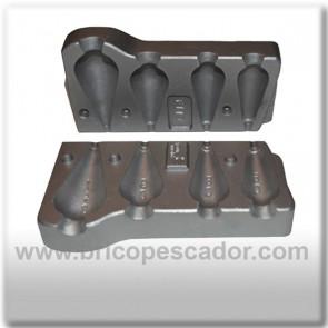 Molde de aluminio para plomada lágrima 60, 80, 90 y 140 gramos.