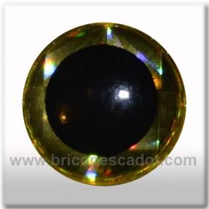 ojo 3d holografico oro 7mm
