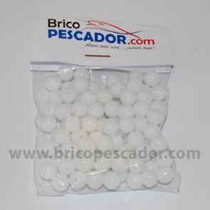 Perla perforada de 8 mm. Blanca