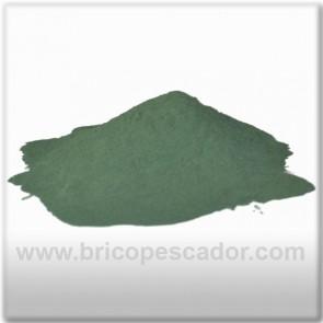 Pintura en polvo verde oscura. (100 gr.)