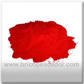 pintura en polvo roja