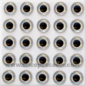 Ojos 3d plata 4 mm.
