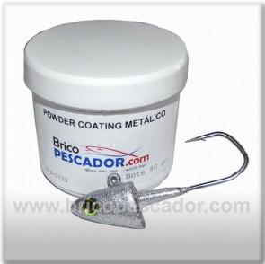 Pintura en polvo para aplicar por temperatura. Bote de 80 gr. Efecto metálico. Para aplicar directamente sobre el plomo caliente.