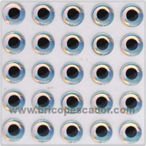 Ojo 3d super perlados 6 mm.