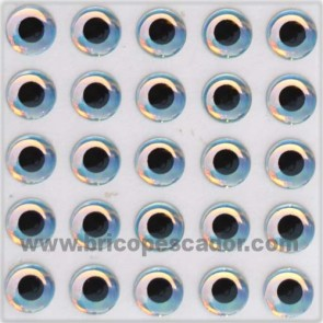 Ojo 3d super perlados 6 mm.